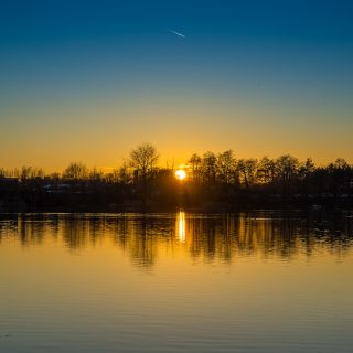 Sonnenuntergang …